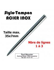 Stylo-Tampon en ACIER INOX