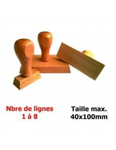 Tampon bois 1-2 lignes sur 10cm de long