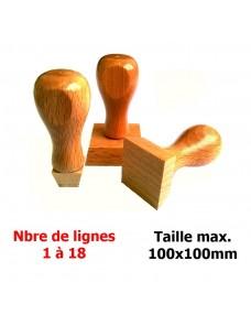 Tampon bois carré 100x100mm
