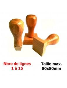 Tampon bois carré 80x80mm