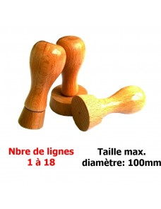 Tampon bois rond 100x100mm